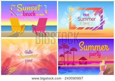 Sunset Beach Party Hello Summer