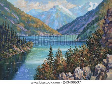 Artwork Kolsai Lake Kazakhstan Author