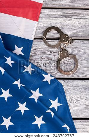 American Flag And Handcuffs Top