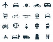 Постер, плакат: Set Transport Icons Collection In Flat Design City Transport Vihecles Auto For Web Design Presen