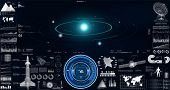 Hud Ui. Space Launch Rockets, Instrument Panel, Radars, 3d Spaceship, Space Satellite, Solar System, poster