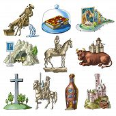 stock photo of cave-dweller  - Cheerful hand pictures about sights of the Germany - JPG