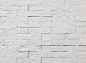 White Brick Wall Background. Abstract White Backdrop. Whitewash Brick Wall Seamless Texture.  White  poster
