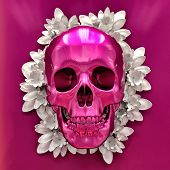 Abstract Bright Illustration of Skull, Skull Image in Artistic Technique with Vibrant Colors, Skull  poster