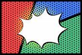 Pop Art  Empty Speech Bubbles On Colorful Background. Vector Illustration, Vintage Design, Pop Art S poster