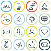 Communication Icons Set With Inbox, Unread Letter, Best And Other Mailbox Elements. Isolated Vector  poster
