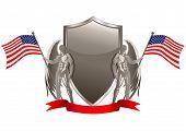 Постер, плакат: Серебряный герб в США