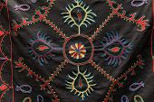 Ornament On Blak Fabric