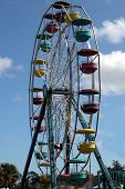 foto of carnival ride  - photographed at a local carnival in florida - JPG