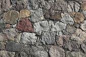 Fieldstone-wall Of A Barn