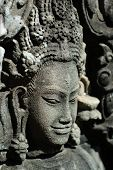 picture of asura  - Close up of sulptured apsara Siem Reap Cambodia