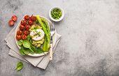 Healthy Vegetarian Meal Plate poster