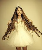 Hair Care. Hairdresser And Cosmetics. Haircare And Prom Queen. Beauty Salon And Wedding Fashion. Wom poster