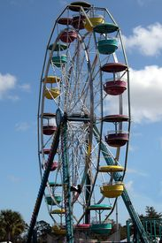 stock photo of carnival ride  - photographed at a local carnival in florida - JPG
