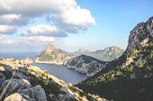Amazing View From Mirador Es Colomer In Cap De Formentor, Mallorca, Spain. Cliff Formations In The M poster