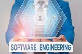 Word Writing Text Software Engineering. Business Concept For Apply Engineering To The Development Of poster