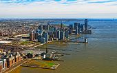Aerial View Of Brooklyn Most Populous Borough Of New York City Reflex poster