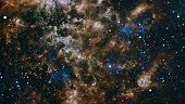 Far Being Shone Nebula And Star Field Against Space. Starfield Stardust And Nebula Space. Galaxy Cre poster