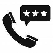 Call Center Feedback Icon. Simple Illustration Of Call Center Feedback Vector Icon For Web Design Is poster