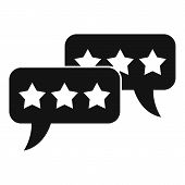 Feedback Chat Icon. Simple Illustration Of Feedback Chat Vector Icon For Web Design Isolated On Whit poster