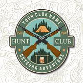 Hunting Club. Vector. Concept For Shirt, Label, Print, Stamp, Patch. Vintage Typography Design With  poster