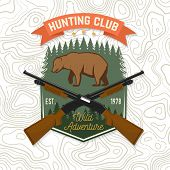 Hunting Club. Vector. Concept For Shirt Or Label, Print, Stamp, Patch. Vintage Typography Design Wit poster