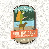 Set Of Hunting Club Badge. Vector Concept For Shirt Or Label, Print, Stamp, Patch. Vintage Typograph poster