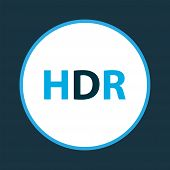 Hdr Icon Colored Symbol. Premium Quality Isolated High Dynamic Range Element In Trendy Style. poster