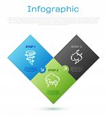 Set Line Tornado, Storm And Storm. Business Infographic Template. Vector poster