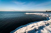 image of burlington  - A view of Lake Ontario from Burlington Beach in winter - JPG