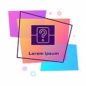 Purple Mystery Box Or Random Loot Box For Games Icon Isolated On White Background. Question Box. Col poster