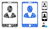 Mobile User Profile Composition Of Small Circles In Different Sizes And Color Tinges, Based On Mobil poster
