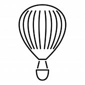 Trip Air Balloon Icon. Outline Trip Air Balloon Vector Icon For Web Design Isolated On White Backgro poster