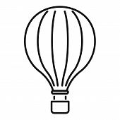 Carnival Air Balloon Icon. Outline Carnival Air Balloon Vector Icon For Web Design Isolated On White poster