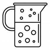 Boiling Lab Jug Icon. Outline Boiling Lab Jug Vector Icon For Web Design Isolated On White Backgroun poster
