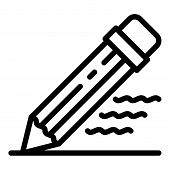 Writing Pencil Icon. Outline Writing Pencil Vector Icon For Web Design Isolated On White Background poster