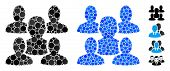 Friends Composition Of Small Circles In Various Sizes And Shades, Based On Friends Icon. Vector Fill poster
