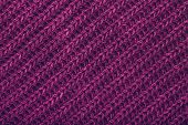 Knitted Magenta Scarf Texture. The Concept Of Cozy, Comfort, Warm, Softness Or Winter poster