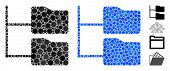 Category Folder Tree Mosaic Of Small Circles In Variable Sizes And Shades, Based On Category Folder  poster