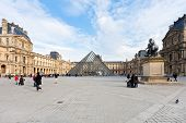 Louvre Museum And Pyramid, Paris