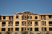 stock photo of 2x4  - New Home or Condo Community Construction Site - JPG