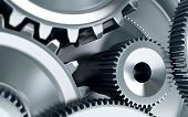 foto of machinery  - Gears concept a background industry engineering machinery - JPG
