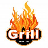 Grill design, sticker, label