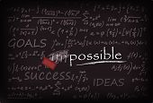 stock photo of impossible  - Vector Illustration of impossible word on Chalk Board - JPG