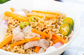 stock photo of pancit  - pancit canton for merienda or snacks popularize in the Philippines - JPG