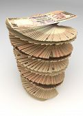 stock photo of indian money  - Indian Rupee Tower  - JPG