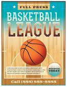 stock photo of basketball  - A basketball league flyer or poster perfect for basketball announcements games leagues camps and more - JPG
