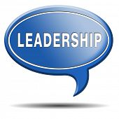 leadership button or icon follow team leader or way to success concept business leader or market lea