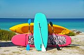 foto of paddling  - Paddle Boarding and Kayak Rentals on the Beach - JPG