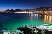 pic of ipanema  - Night view of Ipanema in Rio de Janeiro - JPG